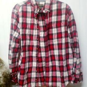 Men's Eddie Bauer Flannel Shirt Button Down Size L
